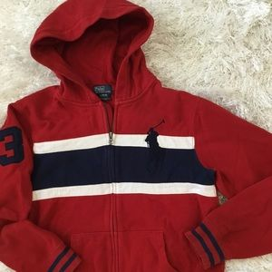 POLO RALPH LAUREN Boys size 14/16 Hoodie Jacket